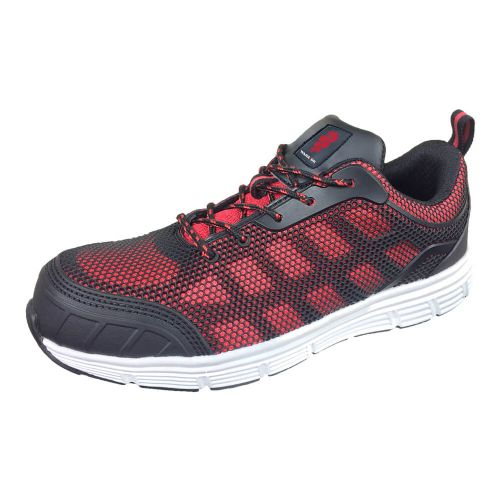 Warrior Red Mesh Safety Trainers